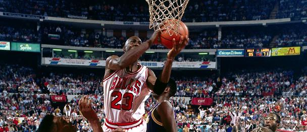 Michael Jordan vs the Los Angeles Lakers - the move